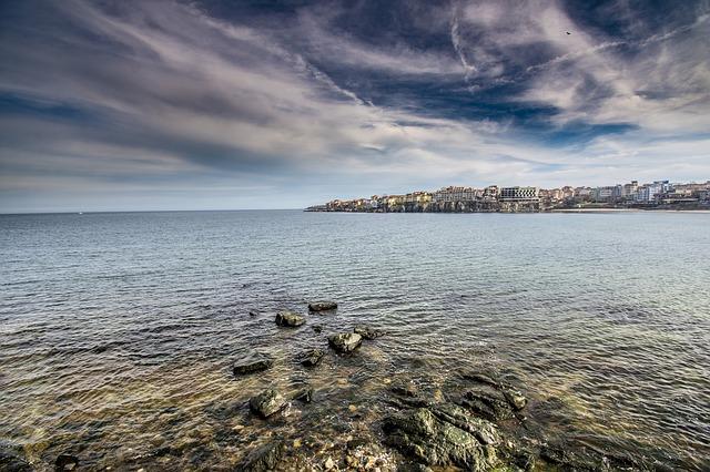 La spiaggia a Sozopol in Bulgaria