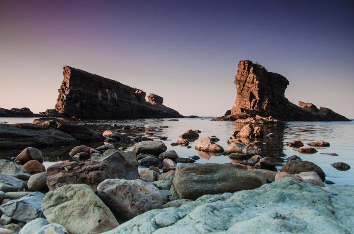 Paesaggio con rocce in Bulgaria.
